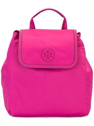 Tory Burch Scout Small Backpack Pink Purple
