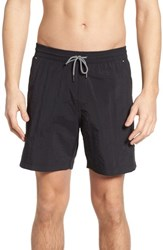 Danward Solid Swim Trunks Black