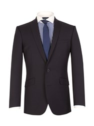 Racing Green Notch Collar Tailored Fit Suit Jacket Navy