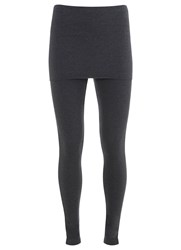Mint Velvet Charcoal Skirted Legging Grey