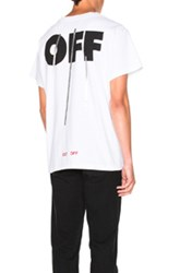 Off White Silver Tee In White
