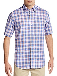 Tailorbyrd Short Sleeve Plaid Cotton Shirt
