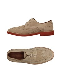 Eleventy Lace Up Shoes Beige