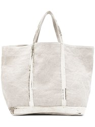 Vanessa Bruno Canvas Tote Nude And Neutrals