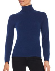 Lord And Taylor Cashmere Turtleneck Sweater Navy Night