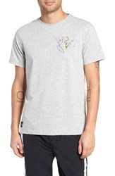Native Youth Embroidered Print T Shirt White