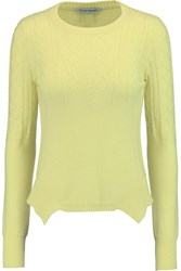 Autumn Cashmere Cable Knit Cashmere Sweater Yellow