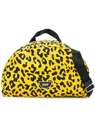 Diane Von Furstenberg Dvf Leopard Print Belt Bag Yellow And Orange