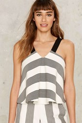 All The Stripe Moves Crop Top