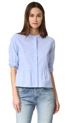 Madewell Peplum Shirt End On End