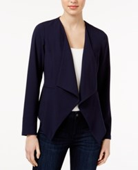 Kensie Date Night Waterfall Blazer Darkest Navy