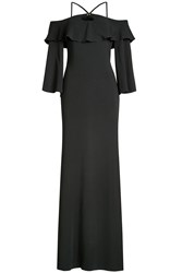 Roberto Cavalli Floor Length Dress With Cut Out Shoulders