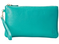 Mighty Purse Coated Cow Leather Charging Wristlet Tourquoise Wristlet Handbags White