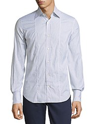 Roberto Cavalli Pinstripe Button Down Shirt White