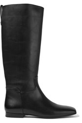 Tomas Maier Leather Knee Boots Black