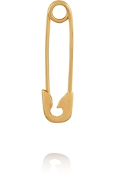 Ileana Makri Safety Pin 10 Karat Gold Earring