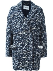 Blugirl Double Breasted Coat Blue