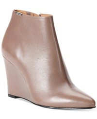 Calvin Klein Women's Charlaine Wedge Booties Women's Shoes Winter Taupe