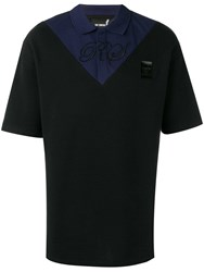 Fred Perry Raf Simons X Two Tone Polo Shirt Black