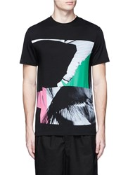 Mcq By Alexander Mcqueen Graphic Print Cotton T Shirt Black
