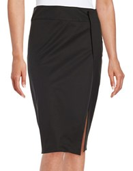 Dkny Side Slit Pencil Skirt Black