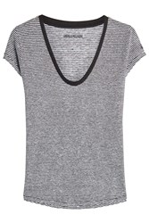 Zadig And Voltaire Stripe Linen T Shirt