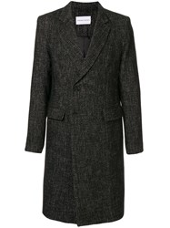 Strateas Carlucci Plated Surgical Tweed Coat 60