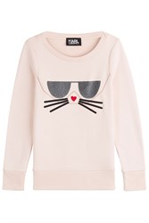 Karl Lagerfeld Sweatshirt With Cotton Rose