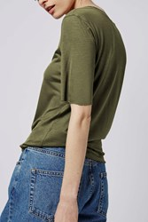 Raw Edge Tee By Boutique Khaki