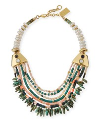 Long Bay Turquoise And Coral Necklace Yellow Gold Lizzie Fortunato
