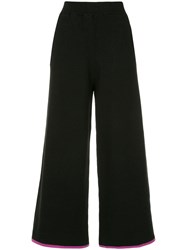 Guild Prime Cropped Wide Leg Trousers Black