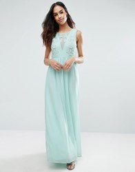 Club L Bridesmaid Maxi Dress With Rose Embroidery Sky Blue As Per Sty