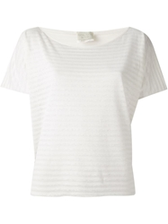 Forte Forte Striped Scoop Neck T Shirt