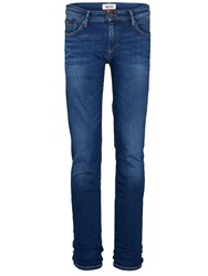 Tommy Hilfiger Men's Scanton Mid Comfort Slim Fit Jeans Mid Blue