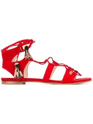 Stuart Weitzman Gladiator Sandals Red