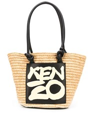 Kenzo Leather Trimmed Tote Bag 60