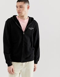 Cheap Monday Zip Hoodie With Logo In Black