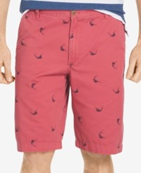 Izod Men's Swordfish Print Shorts Saltwater Red
