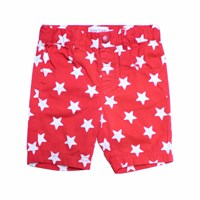 Toby Tiger Red Star Shorts White Red