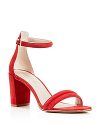 Kenneth Cole Lex Ankle Strap High Heel Sandals Red