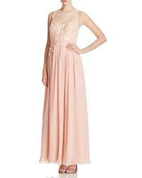 Decode 1.8 Embellished Lace Bodice Gown Apricot