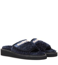 See By Chloe Slip On Sandals Blue
