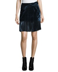 3.1 Phillip Lim Sculpted Velvet Mini Skirt Sapphire