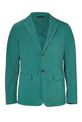 Jil Sander Malachite Stretch Cotton Blazer