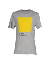 Pantone Topwear T Shirts Men Grey