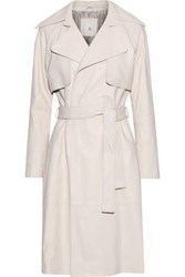 Iris And Ink Nova Leather Trench Coat Pastel Pink