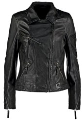 Freaky Nation Freaky Star Reloaded Leather Jacket Black