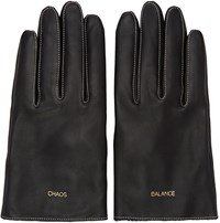 Undercover Black Balance Chaos Gloves