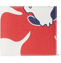 Thom Browne Printed Pebble Grain Leather Billfold Wallet White