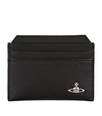 Vivienne Westwood Logo Milano Card Holder Unisex Black